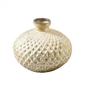 Smaragd vase creme gold