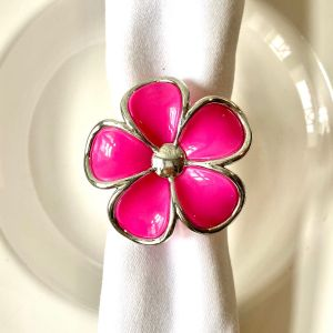 Serviettenring pink blüte