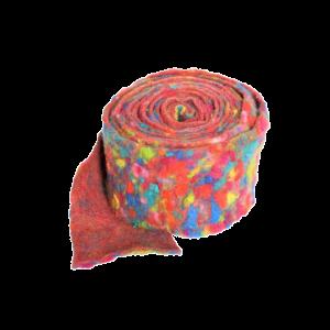 Filzband bunt orange-rot-gelb-blau/türkis