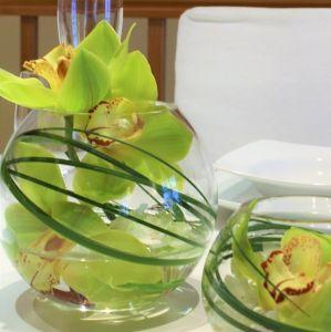 Glasbowl dekoriert