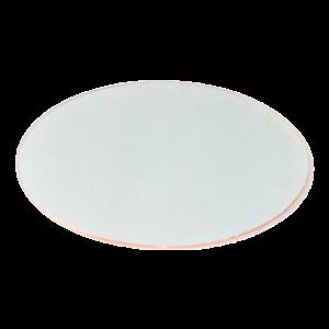 Glas Platzteller Kupfer