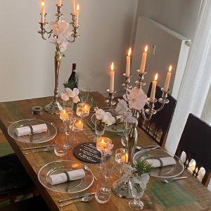 Tischset Orchi silver light