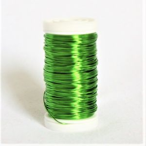 Schmuckdraht grün-metallic