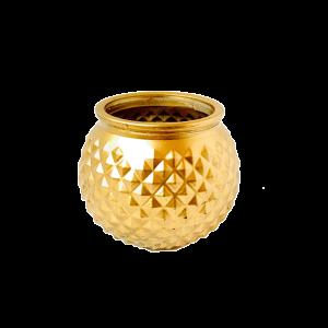 Vase , Gold glas